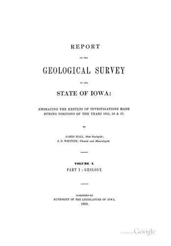 Download Report on the Geological survey of the state of Iowa.
