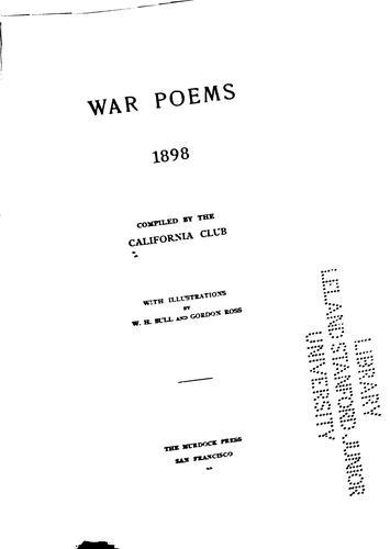 War poems, 1898