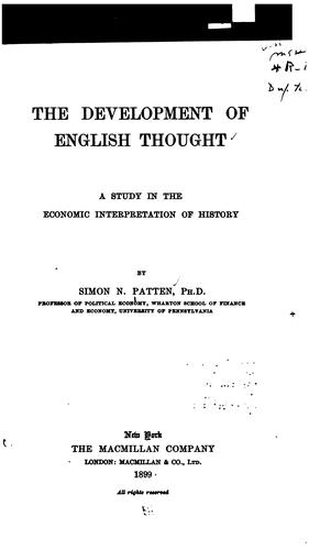 Download The development of English thought