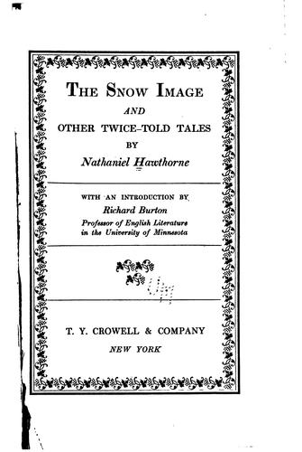 Download The snow image and other Twice-told tales