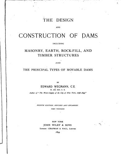 The design and construction of dams
