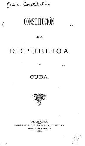 Download Constitución de la República de Cuba.