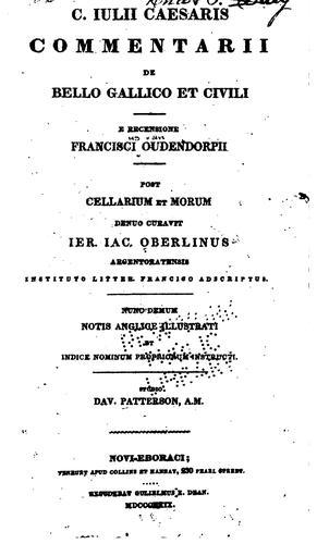 Download C. Iulii Caesaris comentarii De bello Gallico et civili