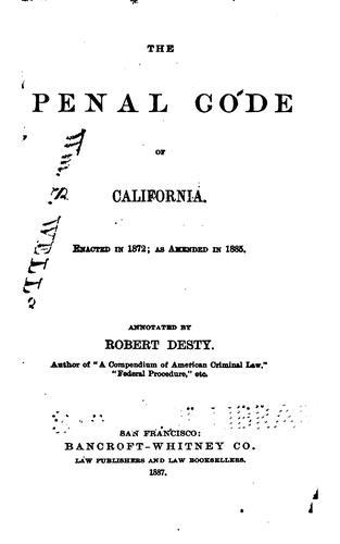 The Penal Code of California