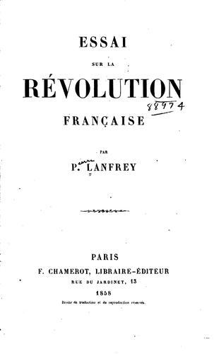 Download Essai sur la révolution française