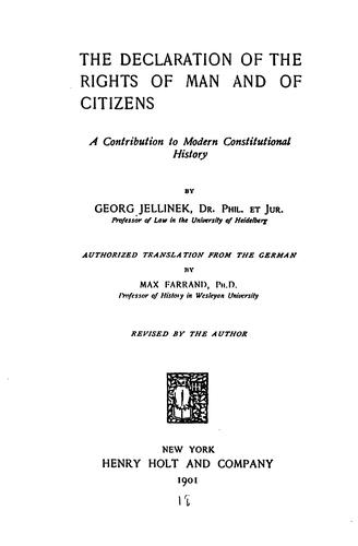 Download The declaration of the rights of man and of citizens
