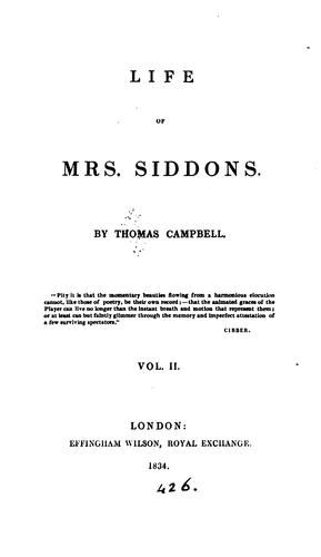 Download Life of Mrs. Siddons.