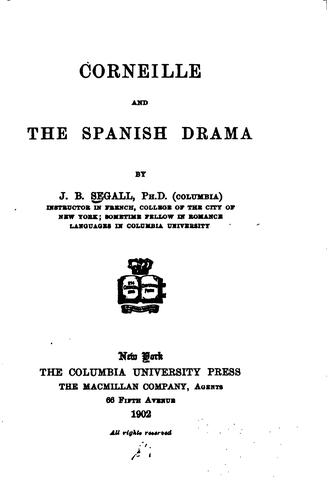 Corneille and the Spanish drama