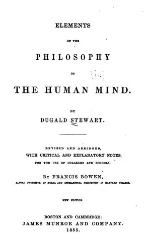 Download Elements of the philosophy of the human mind.