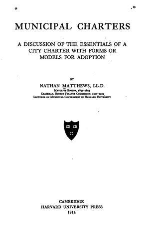 Download Municipal charters