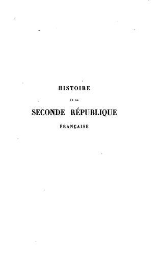 Download Histoire de la seconde république française.