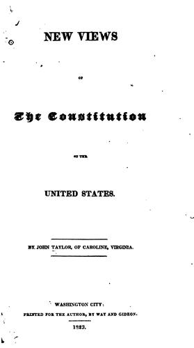 Download New views of the Constitution of the United States.