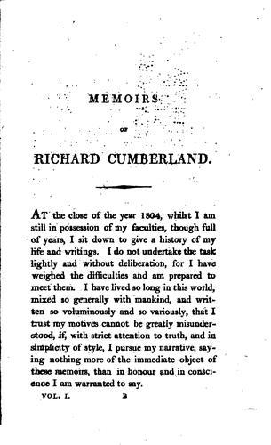 Memoirs of Richard Cumberland.