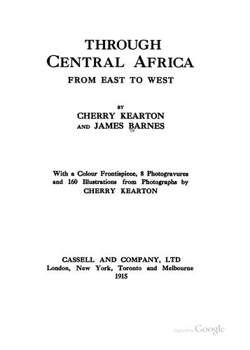 Download Through Central Africa, from east to west