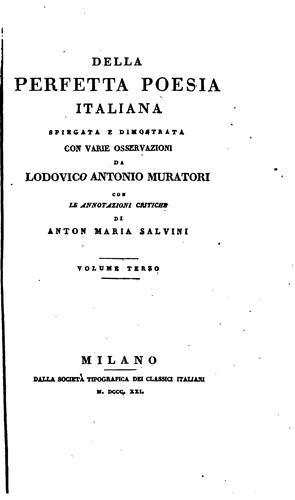 Della perfetta poesia italiana.