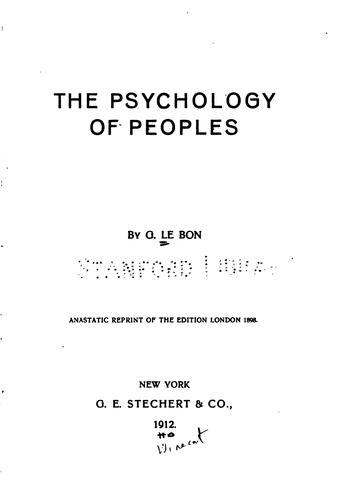 Download The psychology of peoples.