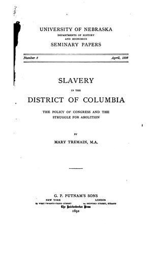 Download Slavery in the District of Columbia