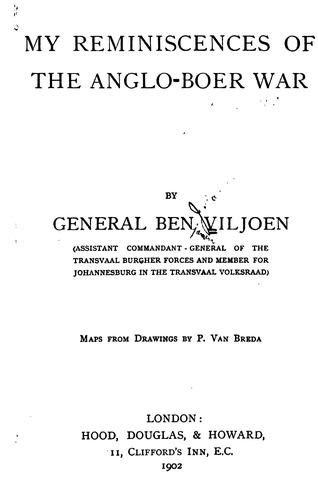 Download My reminiscences of the Anglo-Boer war