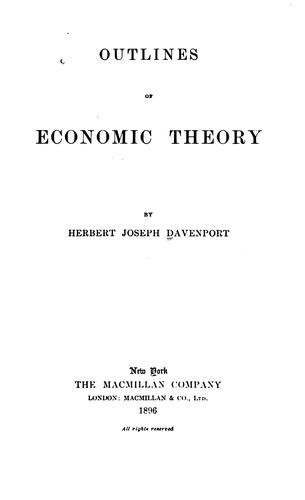 Outlines of economic theory.