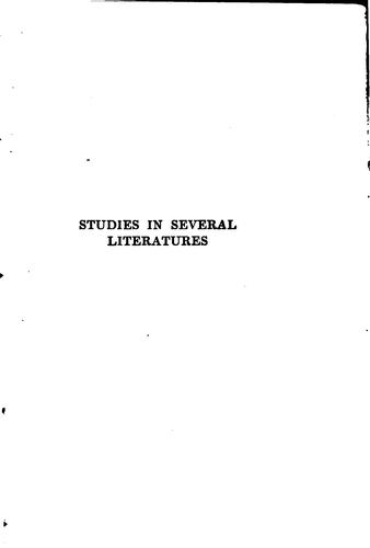 Studies in several literatures.