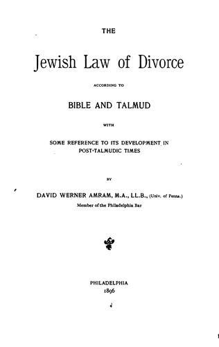 Download The Jewish law of divorce