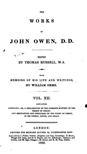Download The works of John Owen.