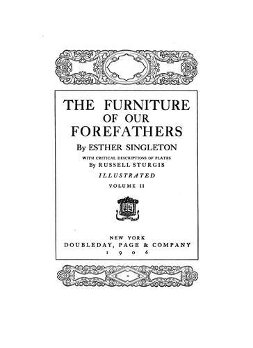 Download The furniture of our forefathers.