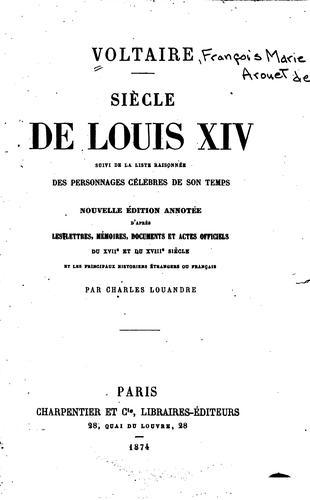 Download Le Siècle de Louis XIV
