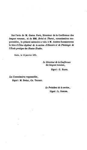 Traité de la formation des mots composés dans la langue française comparée aux autres langues romanes et au latin.
