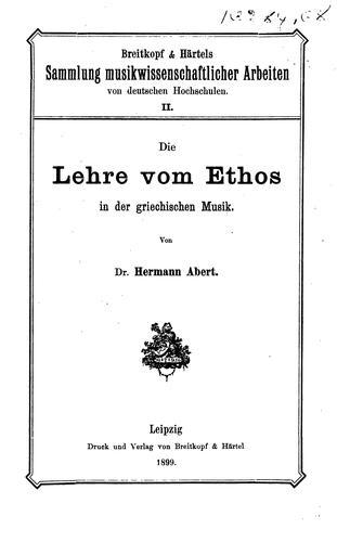 Download Die Lehre vom Ethos in der griechischen Musik.