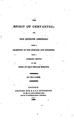 The spirit of Cervantes