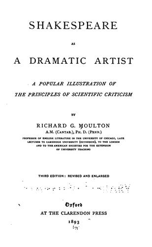 Download Shakespeare as a dramatic artist