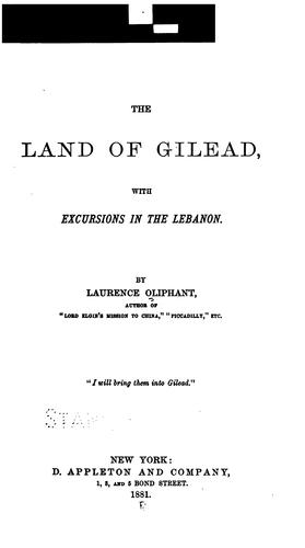 The land of Gilead (Open Library)