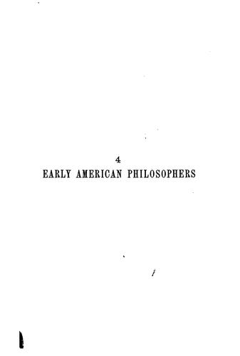 Download Early American philosophers.