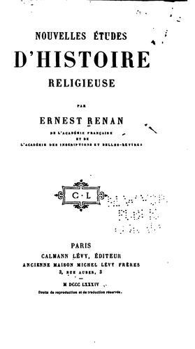 Download Nouvelles études d'histoire religieuse