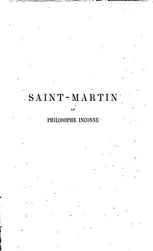 Download Saint-Martin, le philosophe inconnu