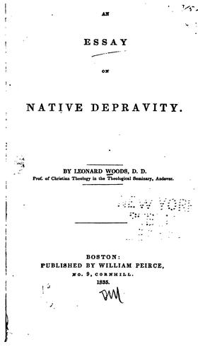 Download An essay on native depravity.