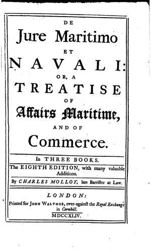 Download De jure maritimo et navali