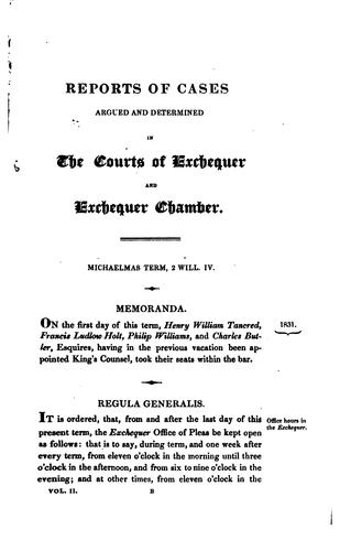 Download Reports of cases argued and determined in the courts of Exchequer & Exchequer Chamber