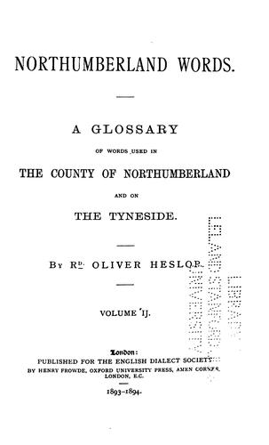 Download Northumberland words, volume 2