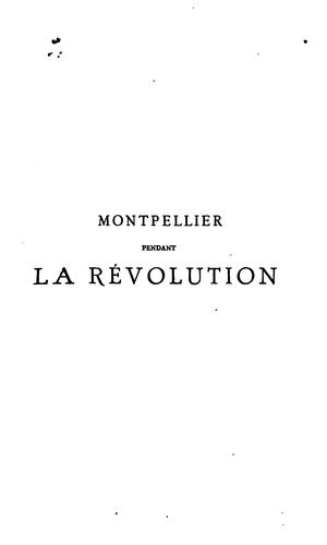 Download Montpellier pendant la révolution …