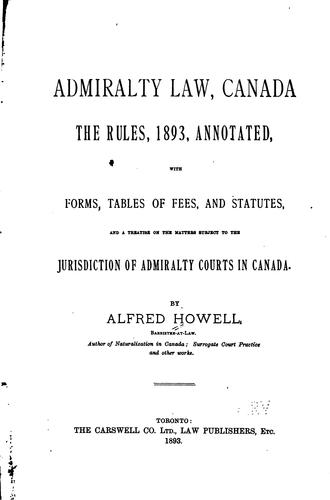 Download Admiralty law, Canada