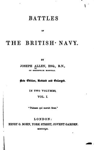 Battles of the British navy