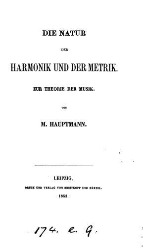 Download Die Natur der Harmonik und der Metrik.