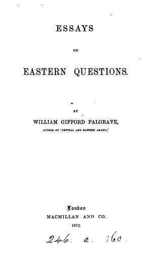 Download Essays on eastern questions.