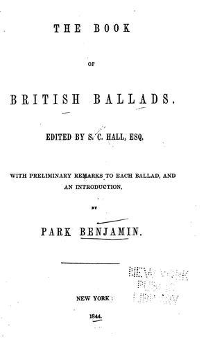 Download The book of British ballads.