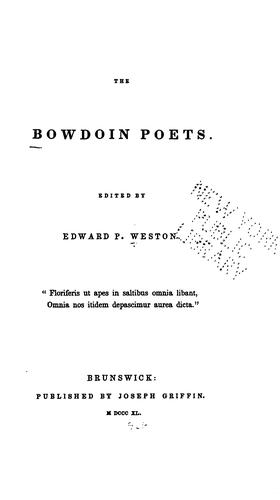 Download The Bowdoin poets.