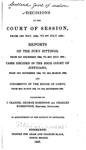 Download Decisions of the Court of Session