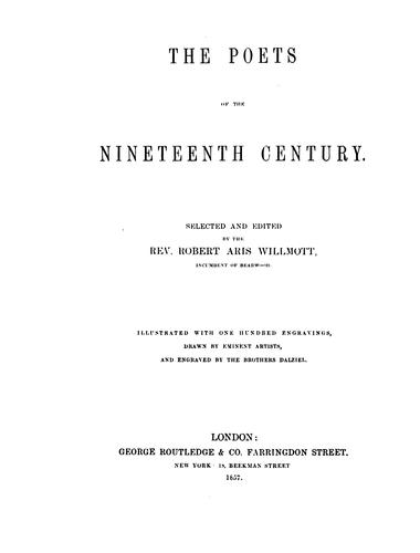 The poets of the nineteenth century.