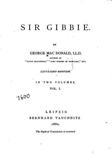 Download Sir Gibbie.